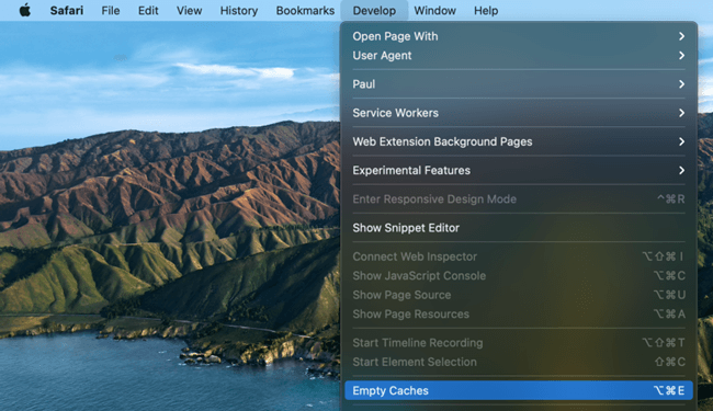 clear caches in macOS Big Sur