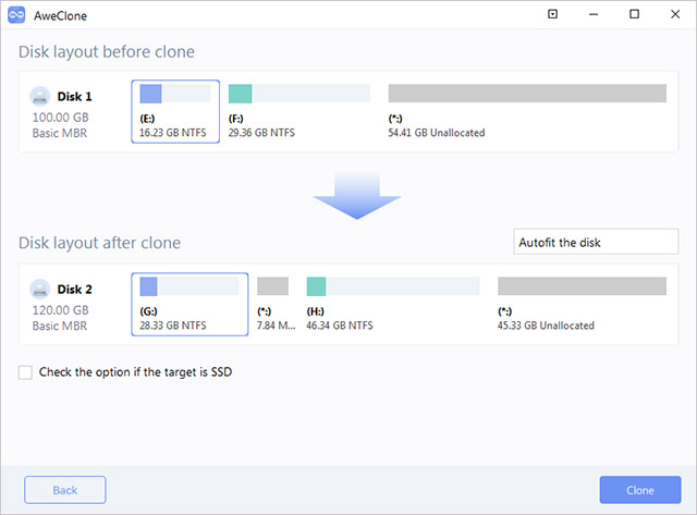 clone hard disk in Windows Server 2019