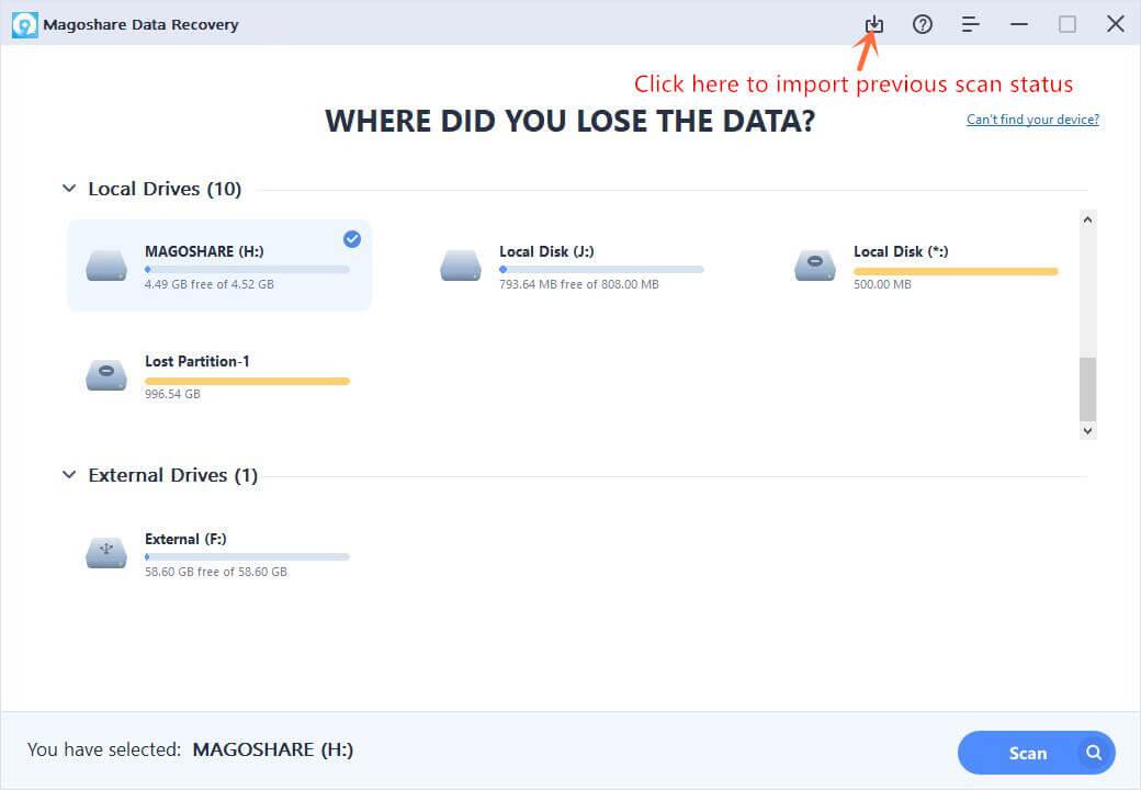 تحميل برنامج Magoshare Data Recovery كامل مجانا